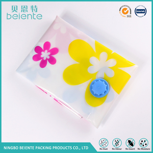 Three-color flower vacuum compression bag